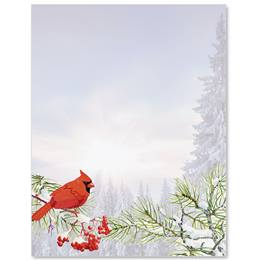Forest Cardinal Border Papers