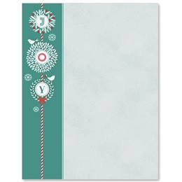 Holiday Joy Border Papers