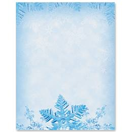 Snowflake Crystals Border Papers