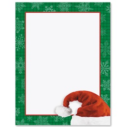 Santa's Hat Design Border Papers