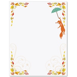 Fall Fox Border Papers