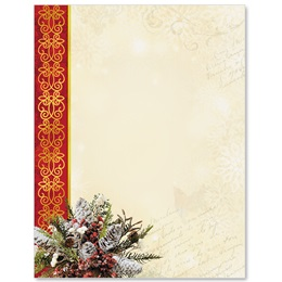 Christmas Cardinal Border Papers