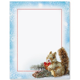 Snowy Squirrel Border Papers