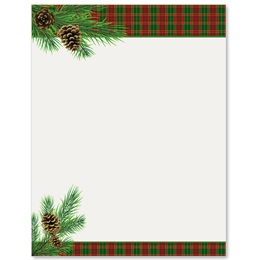 Traditional Plaid Border Papers