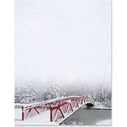 New Fallen Snow Border Paper