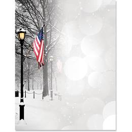 Patriotic Park Scene Border Papers