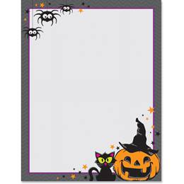 Happy Meowloween Border Paper