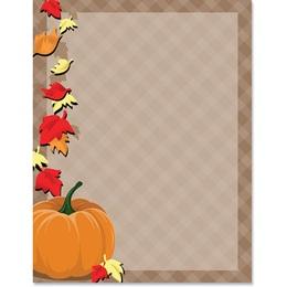 Fall Gingham Border Paper