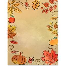 Pumpkin Potpourri Border Paper