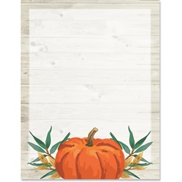 Pumpkin Pine Border Paper