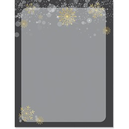 Modern Snowflake Border Paper