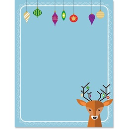 Prancer's Party Border Paper