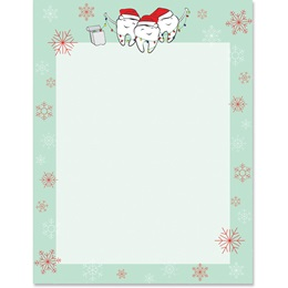 Caroling Teeth Border Paper