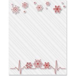 Snowflake Vitals Border Paper