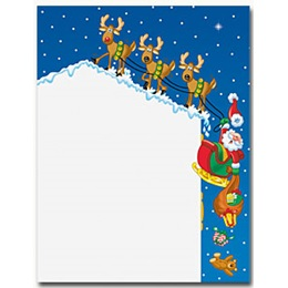 Rooftop Santa Border Papers
