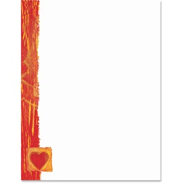 Single Heart Border Papers