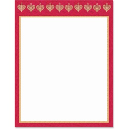 Lattice Hearts Border Papers
