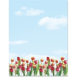 Tulip Garden Border Papers