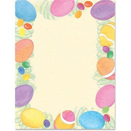 Painted Eggs Border Papers