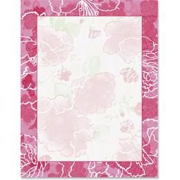 Elaborate Floral Border Papers