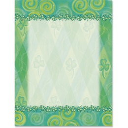 Shamrock Harlequin Border Papers