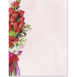 Valentine Bouquet Border Papers