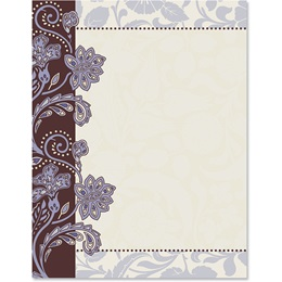 Lavender Brocade Border Papers