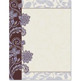 Lavender Brocade Border Papers