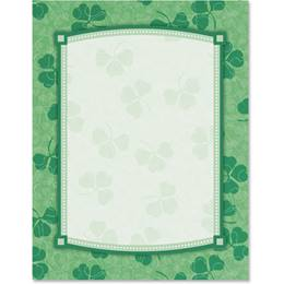 Lucky Shamrocks Border Papers