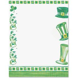 Leprechaun Hats Border Papers