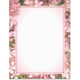 Apple Blossoms Border Papers