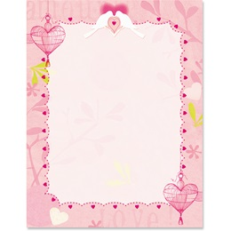 Love Birds Border Papers