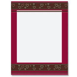 Cherry Chocolate Border Papers
