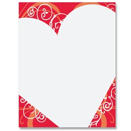 Heart Shaped Wishes Border Papers