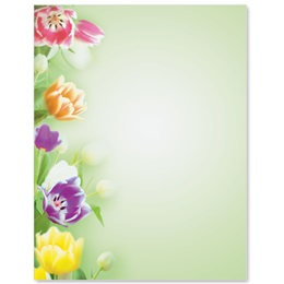 Fresh Tulips Border Papers