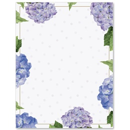 Hydrangeas and Dots Border Papers