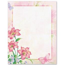 Floral Mist Border Papers