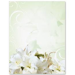 Graceful Lilies Border Papers