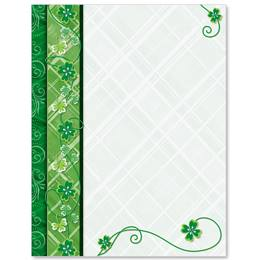 Shamrock Swirls Border Papers