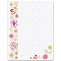 Floral Sherbet Border Papers