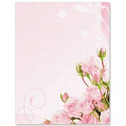 Pink Elegance Border Papers