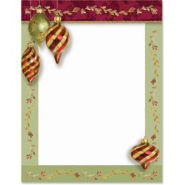 Brilliant Ornaments Border Papers