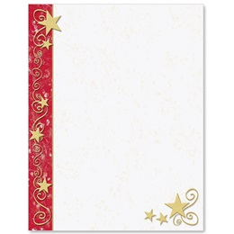 Gilded Stars Border Papers