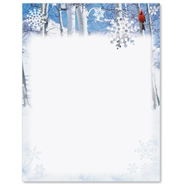 Winter Cardinal Border Papers