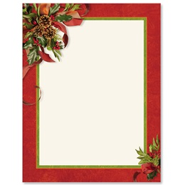 Ribbons and Holly Border Papers