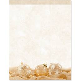 Golden Holiday Border Papers