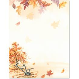 Falling Leaves Border Papers