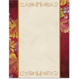 Autumn's Vineyard Border Papers