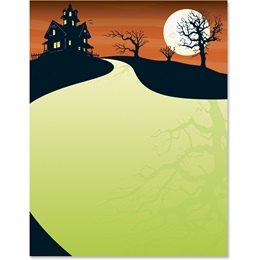 Haunted Hill Border Papers