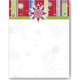 Snow Bright Border Papers